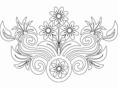 Flower Design dxf File