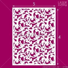 Die Cut Ornamental Panel Seamless Pattern Vector CDR File