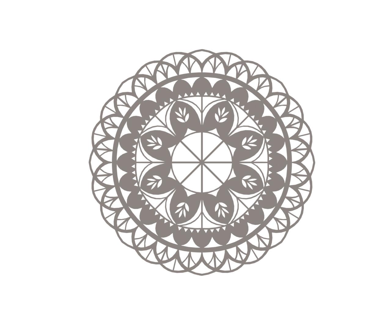 Mandala Vector Mandala Floral Mandala Flower Vector DXF File