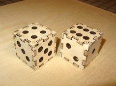 Laser Cut Dice 3D Puzzle Free Vector