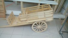 Laser-Cut Carriage Wooden Toy