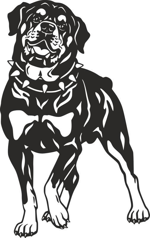 Dog Rottweiler Breed vector art dxf File