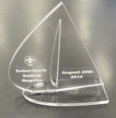 Laser Cut Acrylic Trophy Free Vector