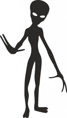Silhouette Aliens Monster Creature dxf File