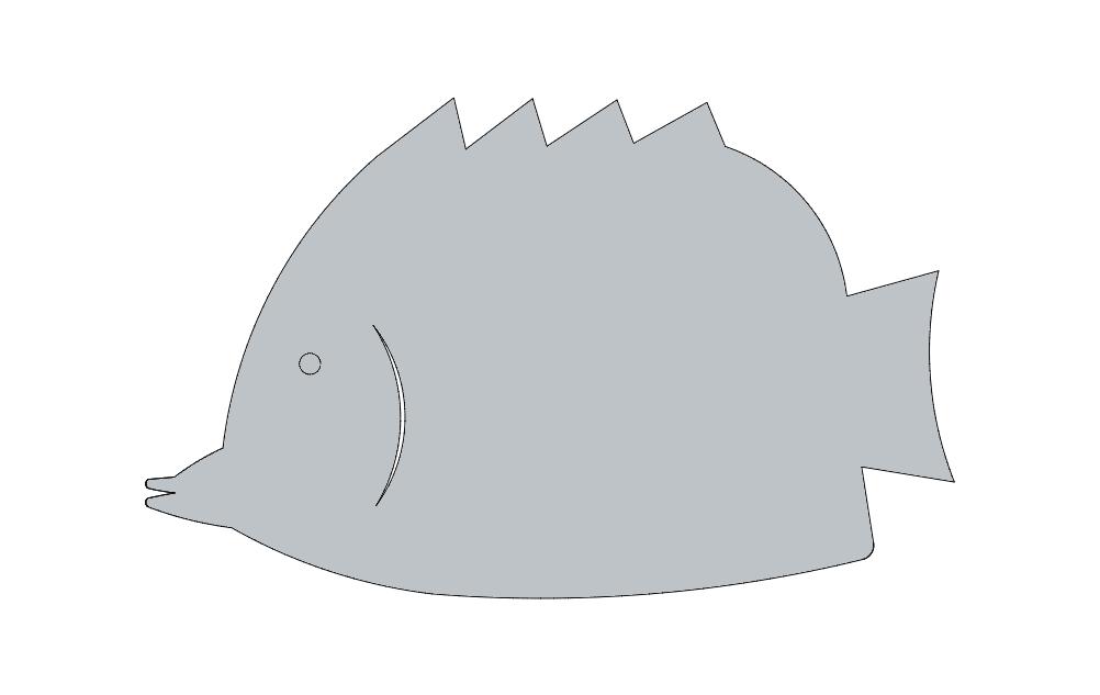 Fish sm 8 dxf File