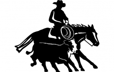 Cowboy And Western 14 dxf File
