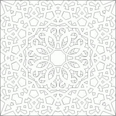 Islamic Ornament Vector Pattern DWG File