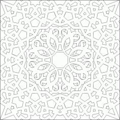 Islamic Ornament Vector Pattern DWG File