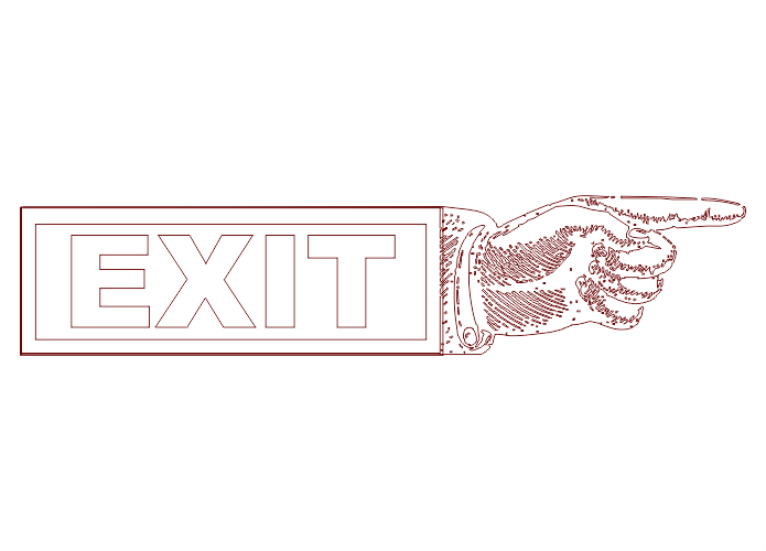 Point Hand Exit DXF File