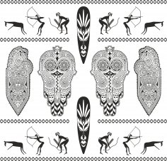 Africa Totem Vector Set Free Vector