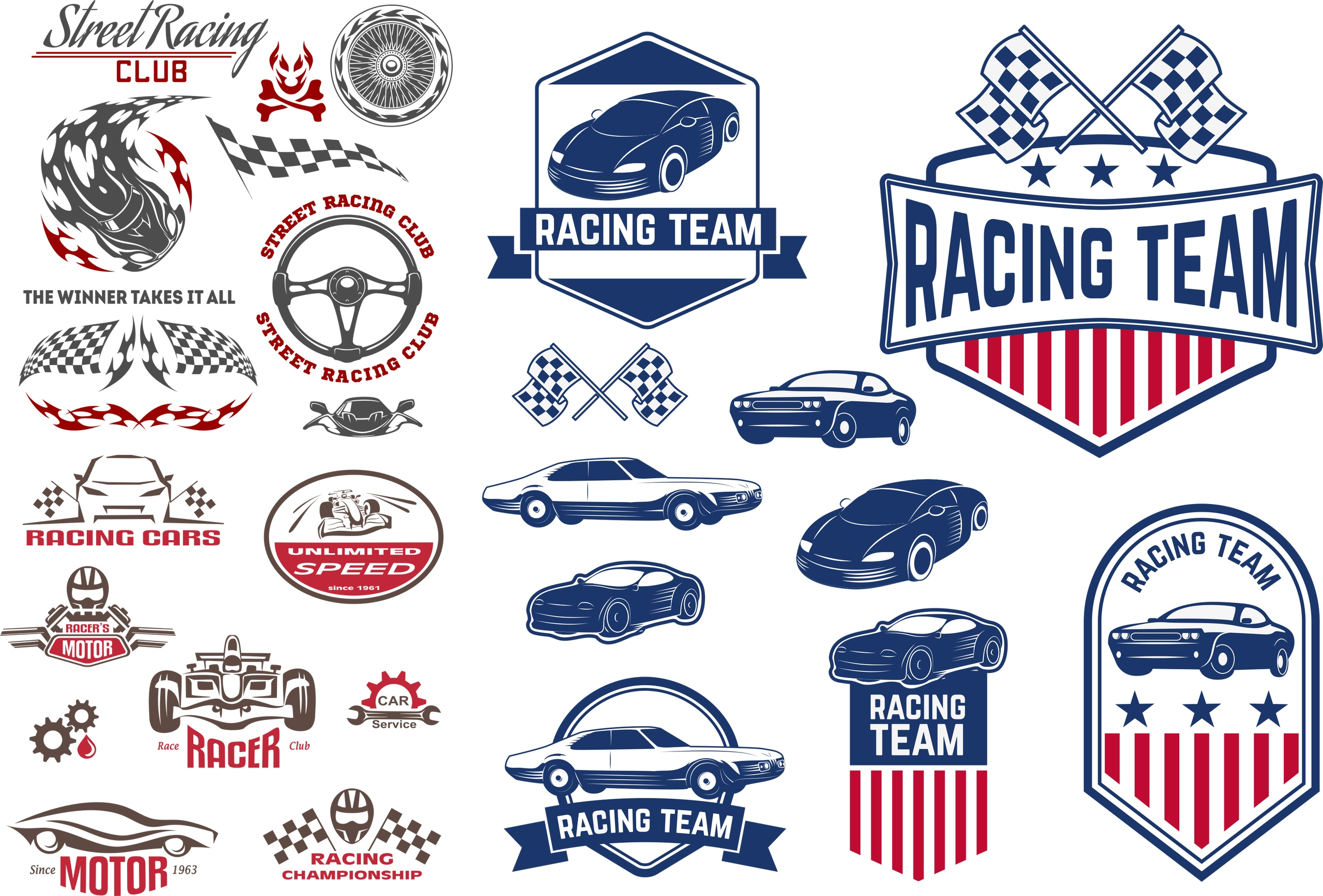 Car Decals Racing Free Vector