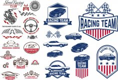 Car Decals Racing Free Vector