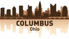 Columbus Skyline Free Vector