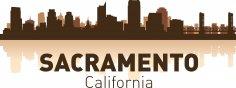 Sacramento Skyline Free Vector