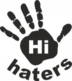 Hi Haters Decal Vector Free Vector