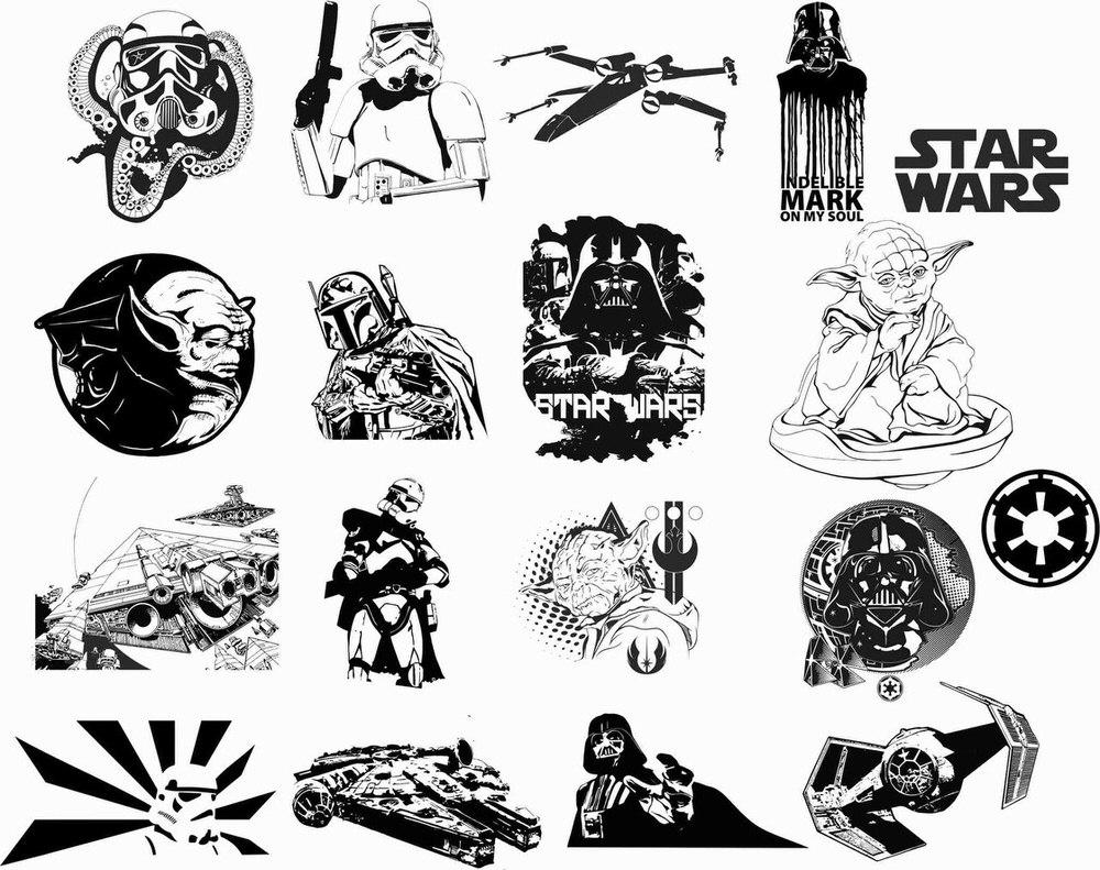 Star Wars Car Vinyl Sticker Auto Decals Vectors Free Vector