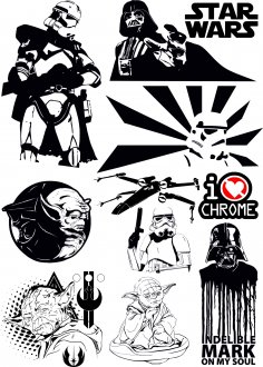 Star Wars Vectors Pack Free Vector
