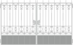 Forged Gates Design Vector Free Vector