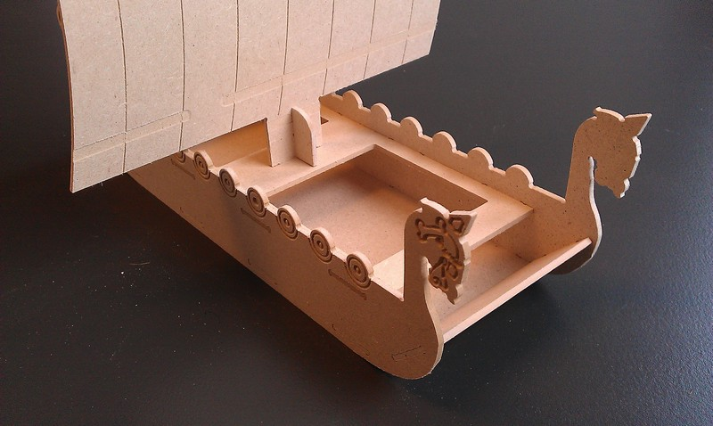 Viking Boat dxf File