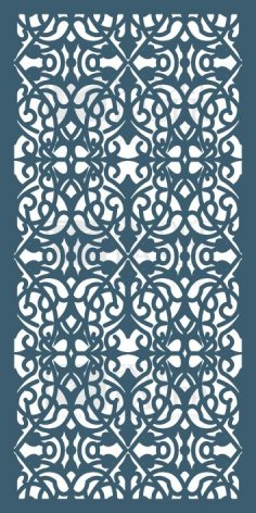Laser Cut Decorative Screen dxf File