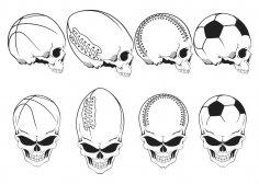 Sport Skulls Vector Pack Free Vector