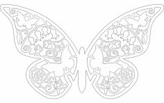 Laser cut Butterfly vector dxf File
