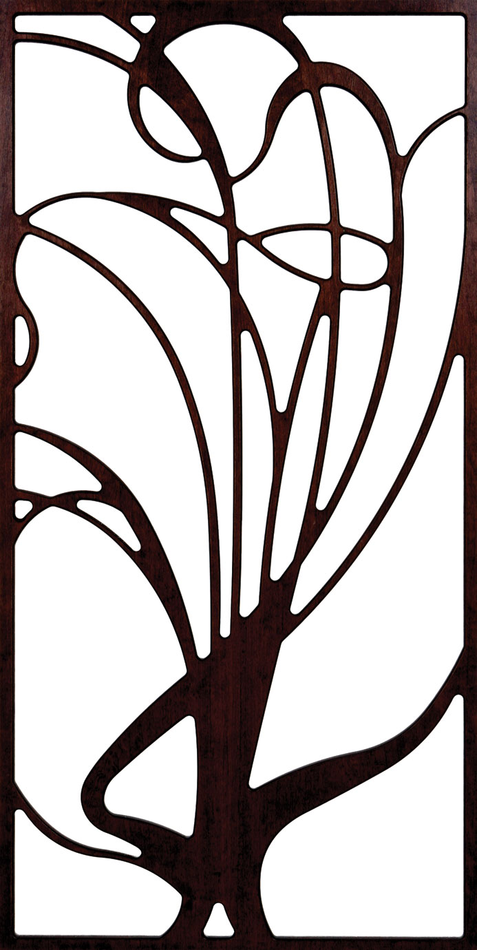 Unframed Grille Tree Pattern 300-v138 dxf File