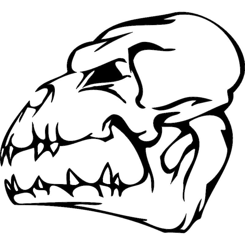Skull 003 dxf File