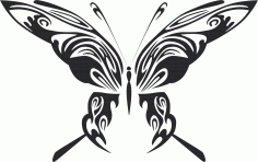 Tribal Butterfly Vector Art 48 DXF File