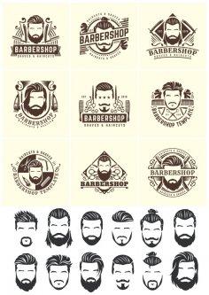 Barbershop Vector Set CDR File