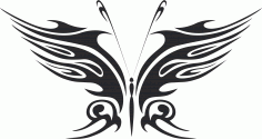 Tribal Butterfly Vector Art 18 DXF File