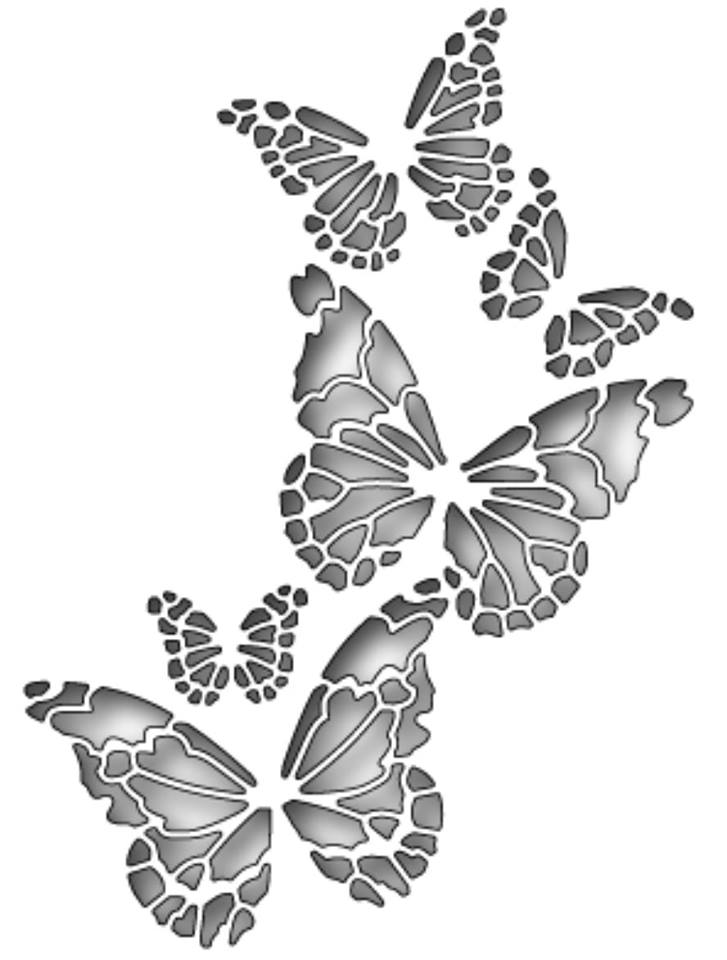 Memory Box Butterfly Vector Art DXF File