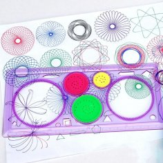Spirograph Geometric Ruler Drafting Tools Free Vector