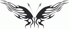 Butterfly vector tattoo DXF File