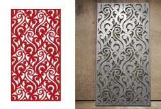 2D MDF CNC Cutting Jali Design DXF File