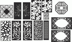 2d Lattice Vector Kit Of Decorative Dividers CDR File