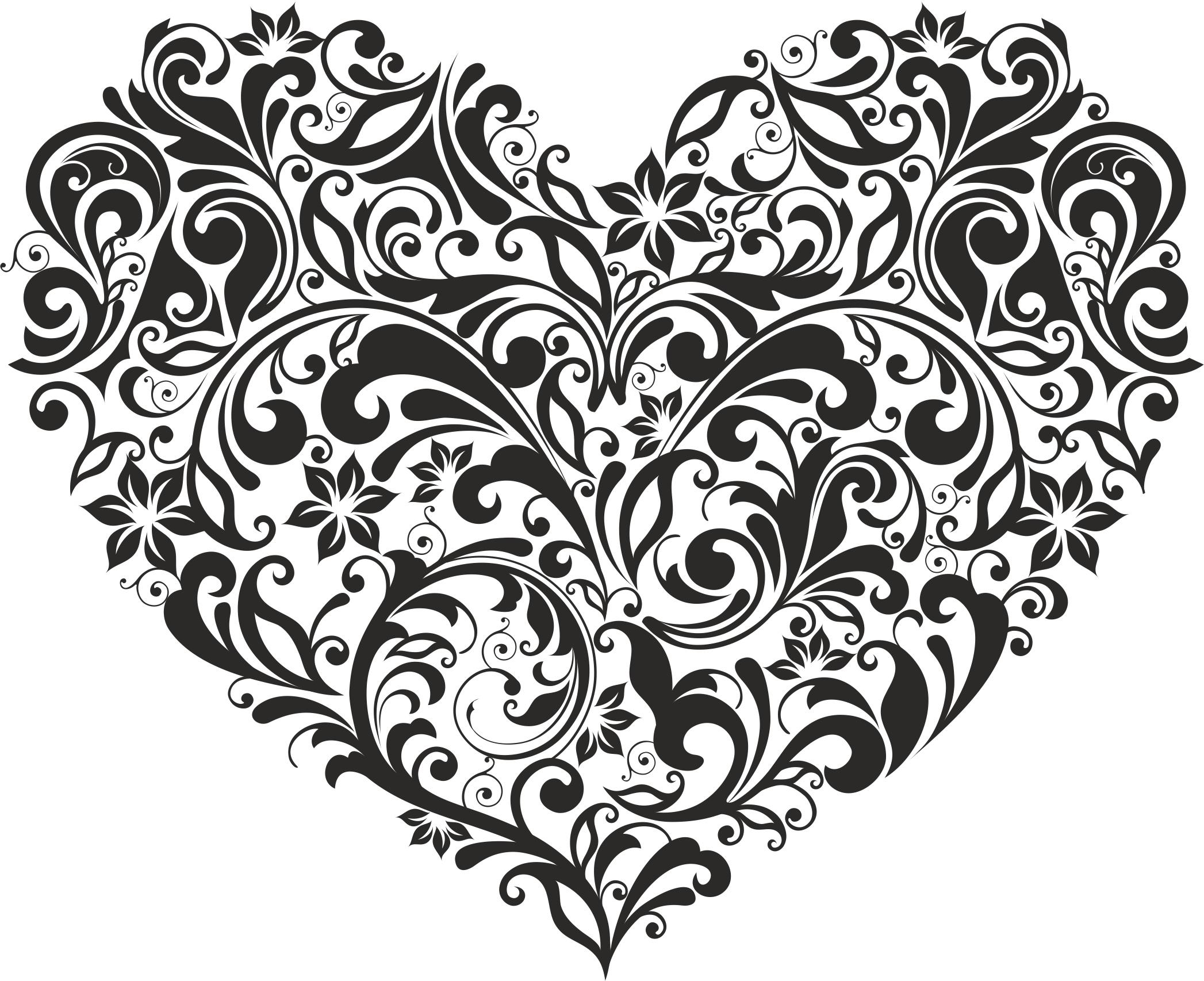 Ornament Heart Free Vector