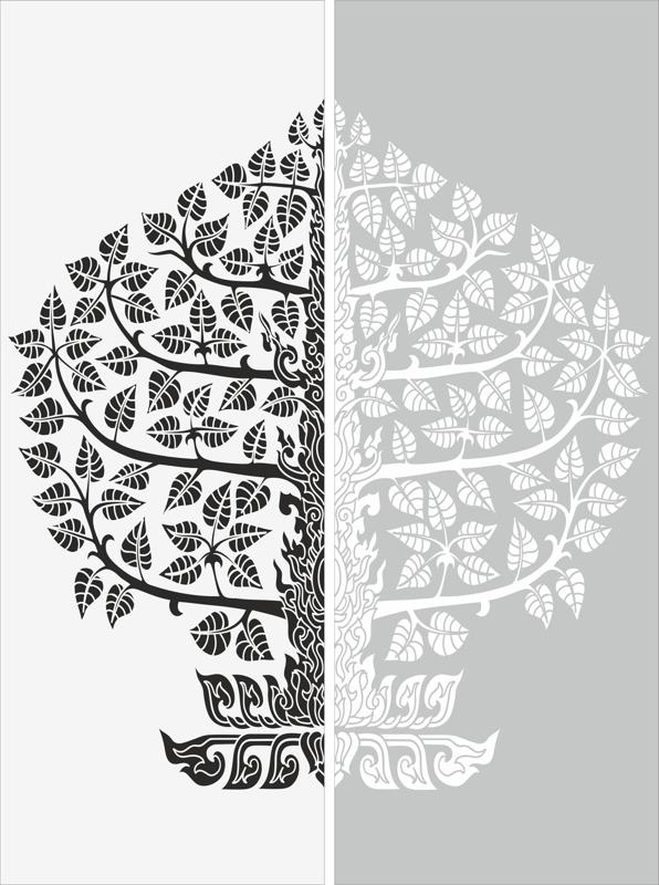 Floral Sandblast Pattern Free Vector