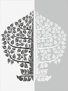 Floral Sandblast Pattern