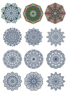 Decorative Ornamental Design Vector Set Free Vector