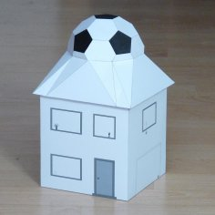 Football House Pepakura Pattern Template PDF File