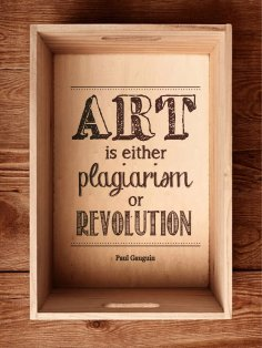 Art is either plagiarism or revolution sticker
