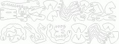 Scorpion 3D Puzzle Laser Cut DXF File