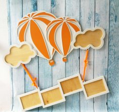 Air Balloon Frame Laser Cut Free Vector