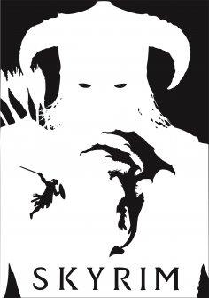 Skayrim Poster Free Vector