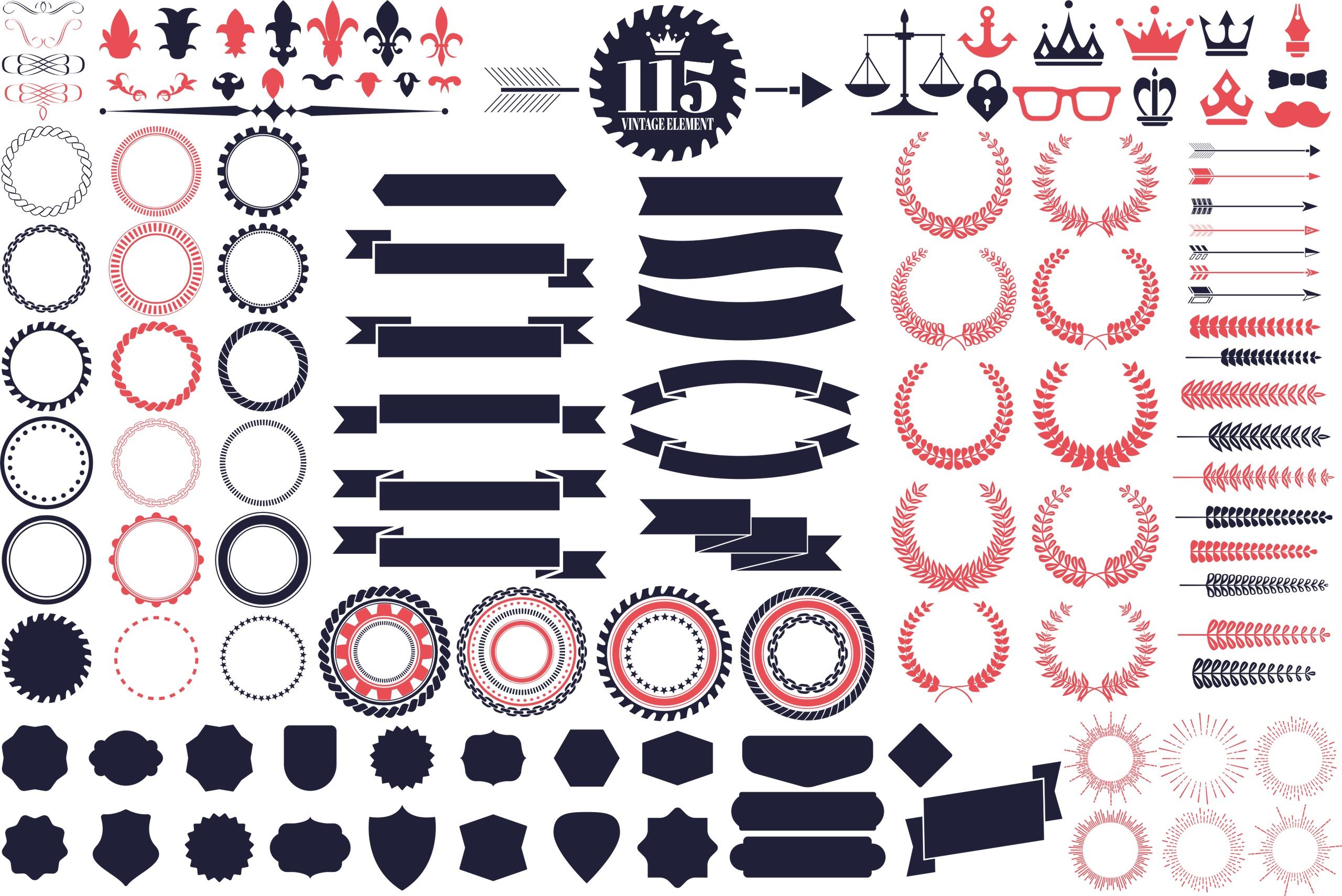 Vintage Logo Kit Free Vector