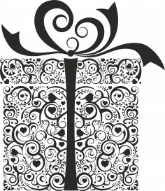 Ornament Gift Box Free Vector