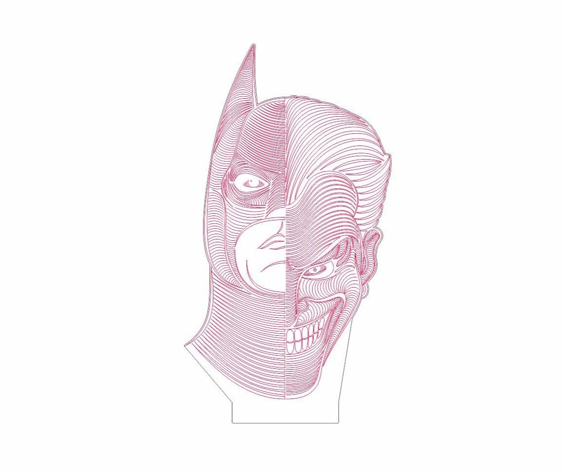 Batman Joker dxf File