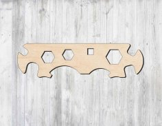 Laser Cut Multifunctional Multihole Hex Wrench Template Free Vector