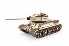 Laser Cut T-34 Tank 3D Puzzle Free Vector